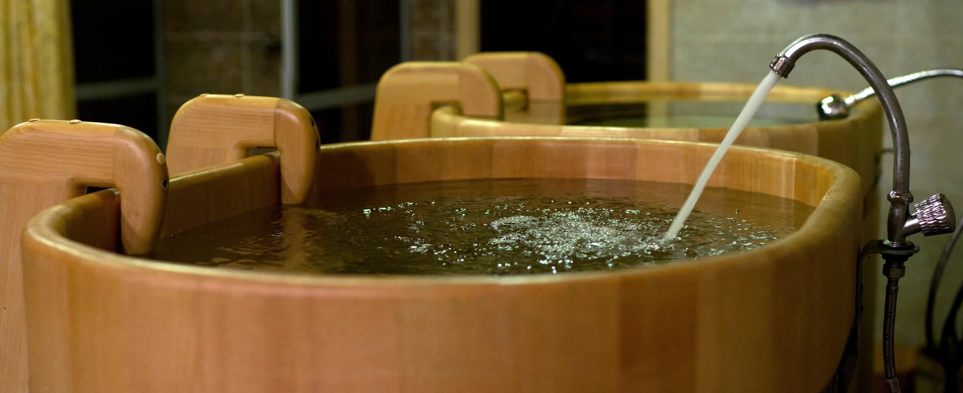 Купель в бане Марфино 2