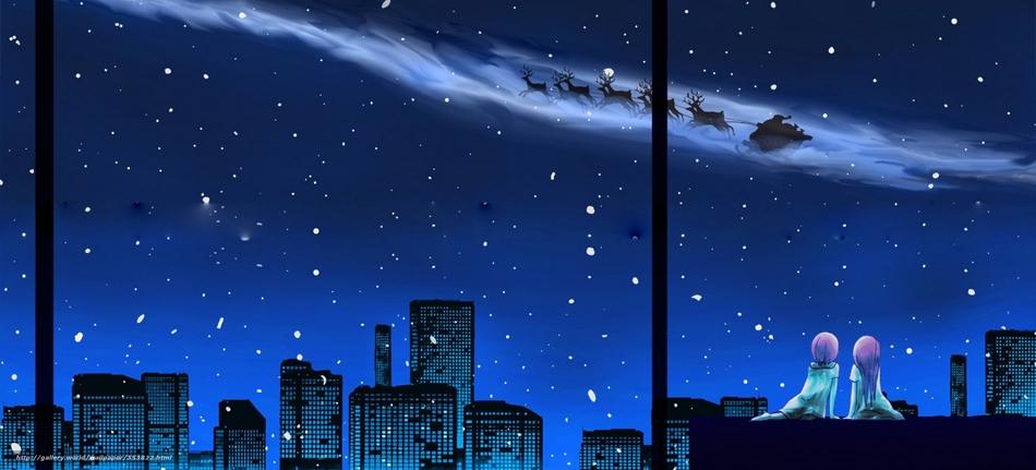 Новый год на крыше со звездами