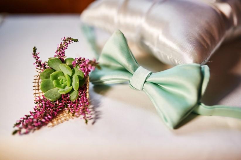 Аксессуары для свадьбы в зеленом цвете