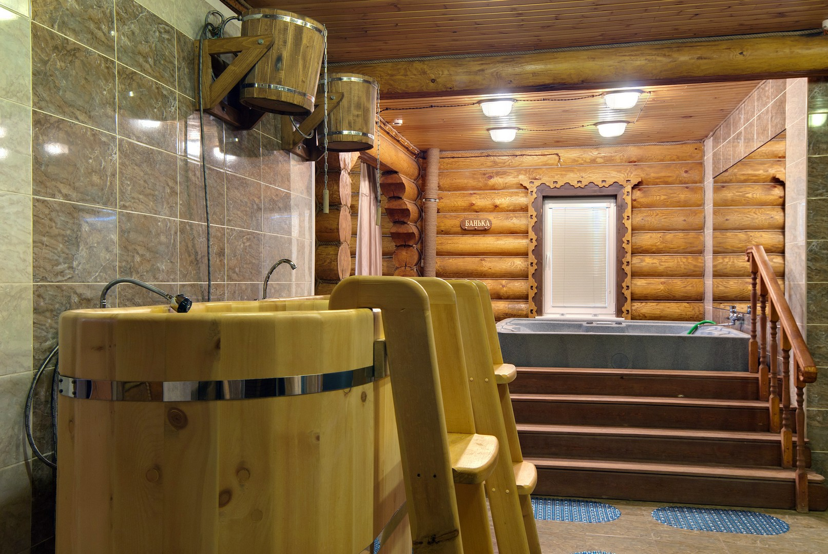 Купель в бане 1
